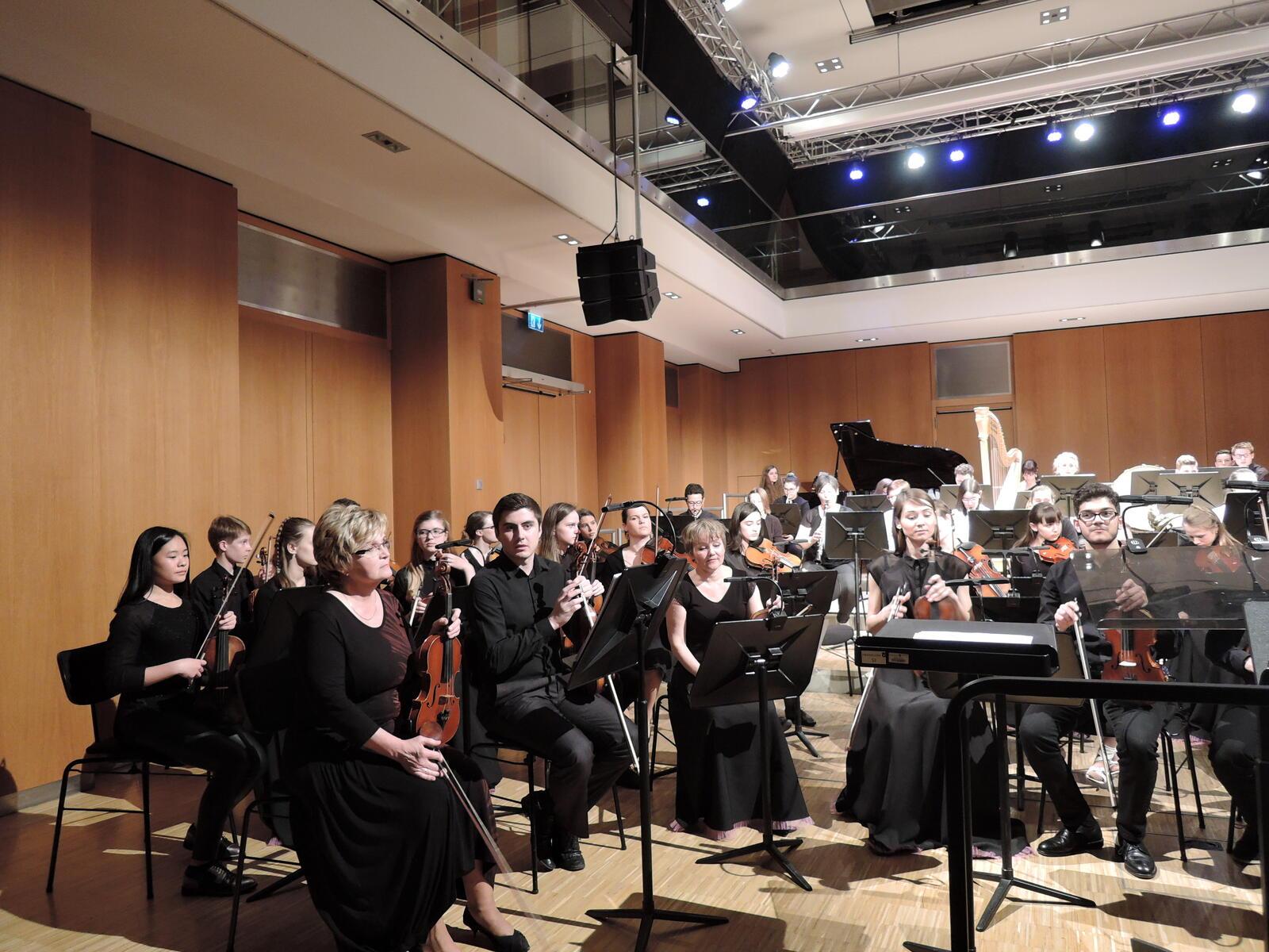 Evropský symfonický orchestr na koncertě – 2017